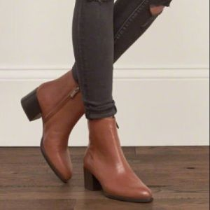 SAM EDELMAN Joey Brown Leather Ankle Boots 7.5